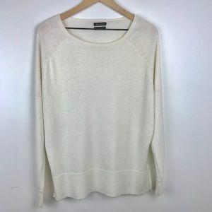 Massimo Dutti   silk cotton cashmere sweater Small